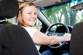 Pretty Teenage Driver — Stock Photo