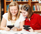 Texting in School — Stock Photo