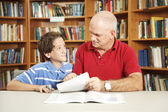Tutoring From Dad — Stock Photo