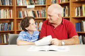Tutoring in the Library — Stock Photo