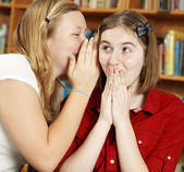 Telling Secrets in School — Stock Photo