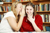 Whispering in Class — Stock Photo