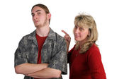 Defiant Teen Angry Mom — Stock Photo