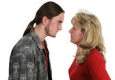 Mother Son Confrontation — Stock Photo
