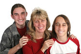 Single Mom & Sons — Stock Photo