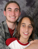 Teen Brothers - Amazed — Stock Photo