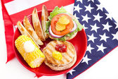 Healthy Fourth of July Picnic — Stock Photo