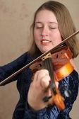 Prettyl Violinist — 图库照片