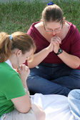 Two Prayerful Teens — Stock Photo