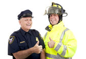 Blue Collar Heroes - Thumbsup — Stock Photo