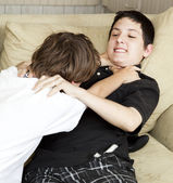 Brothers Fighting — Stock Photo