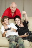Family Time with Dad — Stock Photo