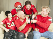 Football Fans Toast Success — Stock Photo