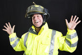 Funny Fireman — Stock Photo