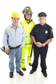 группа синих воротничков работников — Стоковое фото