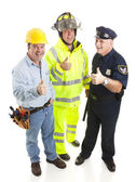 Group of Workers - Thumbsup — Stock Photo