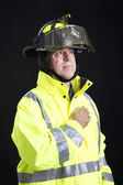 Reverent Firefighter — Stock Photo