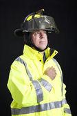 Reverent Firefighter — Stock Photo