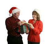 Wymiana prezentów — Zdjęcie stockowe