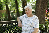 Friendly Senior in Park — Stock Photo