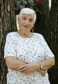 Senior Woman Arms Folded — Stock Photo