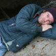 Royalty-Free Stock Photo: Homeless Man - Society\'s Problem