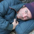Stock Photo: Homeless Man - Soulful Eyes