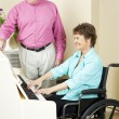 Disabled Pianist — Stock Photo