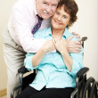 Disabled Woman and Loving Husband — Stock Photo