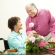 Florist - Helpful Husband — Stock Photo