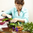 Royalty-Free Stock Photo: Florist at Work