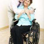 Mature Couple - Disability — Stock Photo