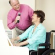Musicians with Disability — Stock Photo