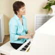 Pianist Playing Church Hymns — Stock Photo