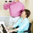 Singing Couple - Disabled — Stock Photo #6815658
