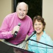 Talented Couple Sings Duet — Stock Photo #6815684