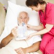 Home Health - Respiratory Therapy — Stock Photo
