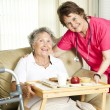 Stock Photo: lunch at the nursing home