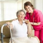 opieki pielęgniarskiej opieki domowej — Zdjęcie stockowe