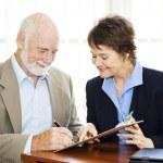 Senior Businessman Signature — Stock Photo