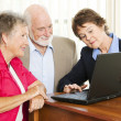 Stock Photo: Senior Couple - Financial Advice