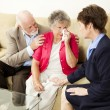 Senior Couple Grief Counseling — Foto Stock