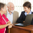 Senior Couple and Financial Consultant — Stock Photo