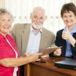 Senior Financial Advice - Thumbsup — Stock Photo #6815997