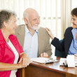 Stock Photo: Seniors with Accountant