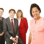 líder de equipo empresarial bien — Foto de Stock