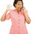 Exciting News By Phone — Stock Photo