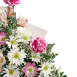 Foto Stock: Flower Border Gift Card