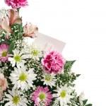 tarjeta de regalo de frontera flor — Foto de Stock