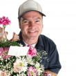 Stock Photo: Flower Delivery - Copyspace